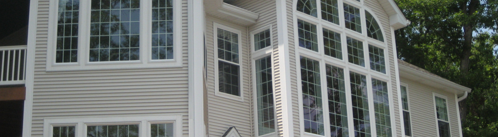exterior windows of a modern home