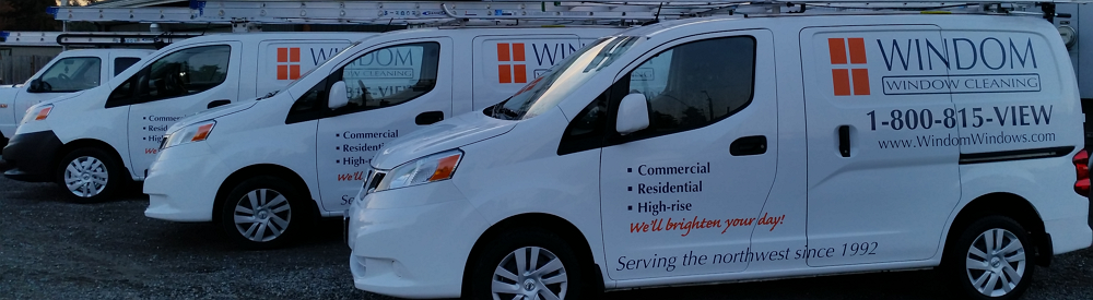 Windom Window Cleaning fleet vehicles